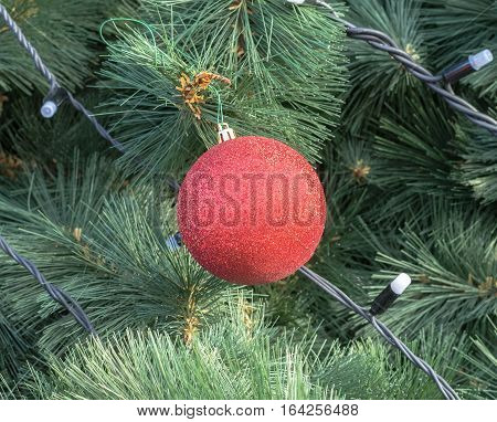 Close-up of very beautiful Christmas- tree decorations