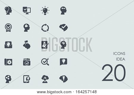 idea vector set of modern simple icons