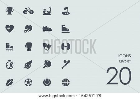 sport vector set of modern simple icons