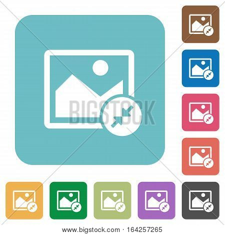 Resize image small white flat icons on color rounded square backgrounds