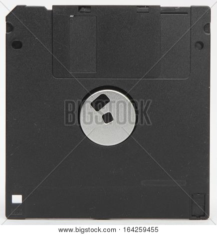 isolated computer floppy disk on white background