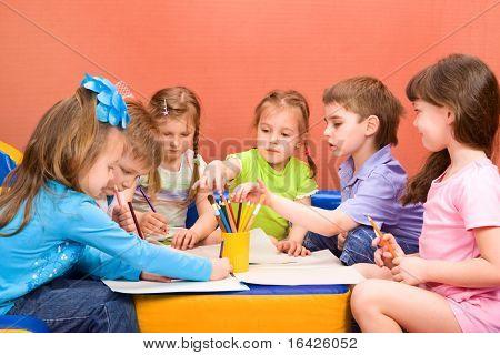 Art and craft activity in the kindergarten