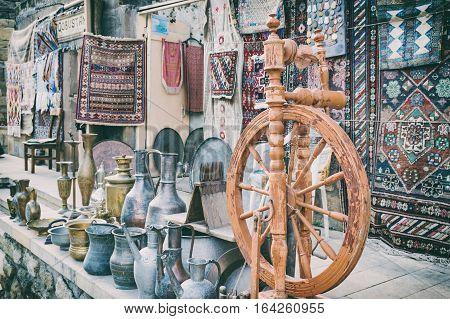 Souvenir shop in the old town - Icheri Sheher, Baku, Azerbaijan.