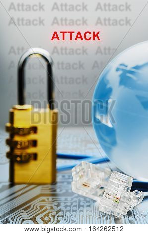 The Concept Of Hacker Attacks On The Internet.