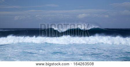 Powerful Ocean Waves Breaking