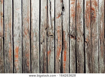 Old weathered and worn wood barn wall.