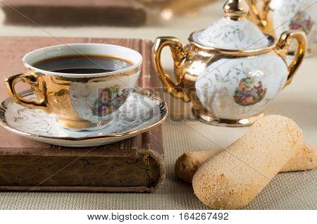 Vintage Gilded Porcelain Tableware