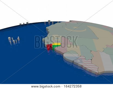 Guinea-bissau With Flag