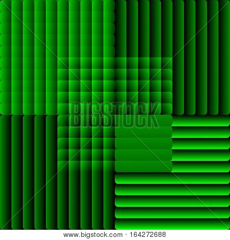 Tile Composed Of Semitransparent Stripes In Optical Art Style. Decorative Vector Bakcground In Green