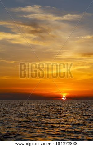 Sunrise Boat   Thailand Kho Tao Bay    Sea