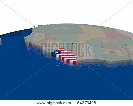 Liberia With Flag