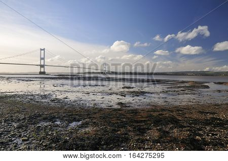 Aust Rock & The Severn Bridge South Gloucestershire
