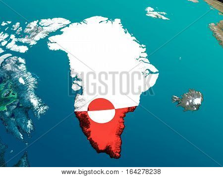 Flag Of Greenland From Space