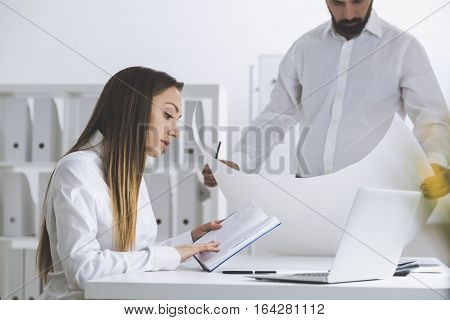 Architects In A White Office