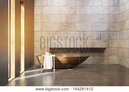 Old Bathroom With Concrete Walls, Toned