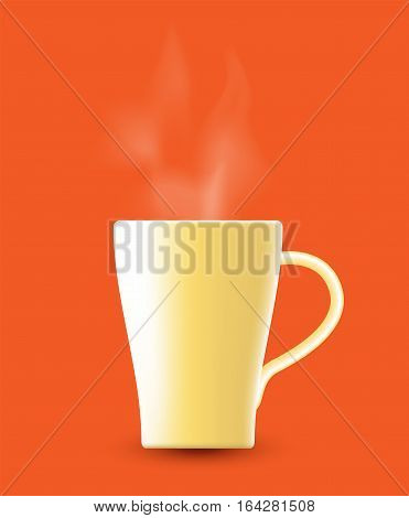 Hot drink, hot coffee, hot milk and other. vector design