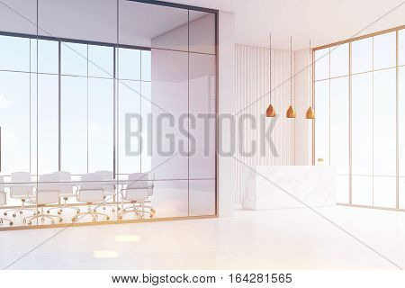 White Reception And Open Office