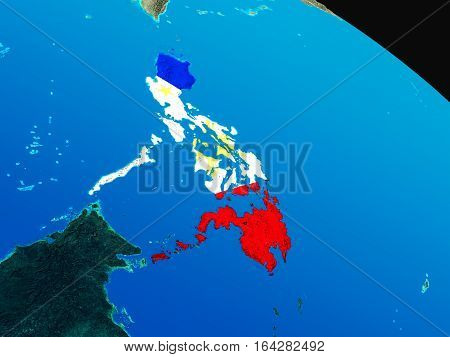 Flag Of Philippines From Space