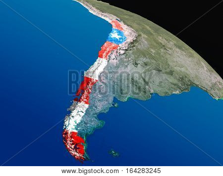 Flag Of Chile From Space