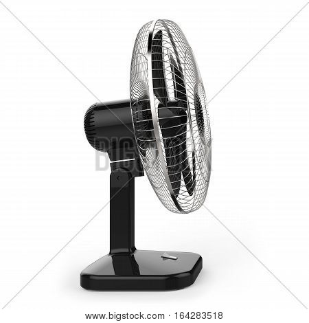 Electric fan isolated on white background 3D rendering