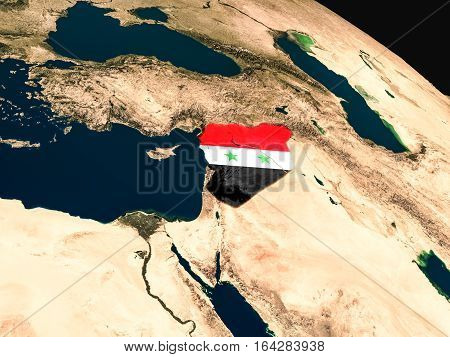Flag Of Syria From Space