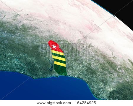 Flag Of Togo From Space