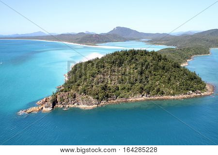 An Aerial view of Hill Inlet Whitsunday Islands Queensland Australia