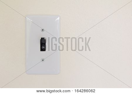 White light switch background (Concept for save energy or turn on idea)