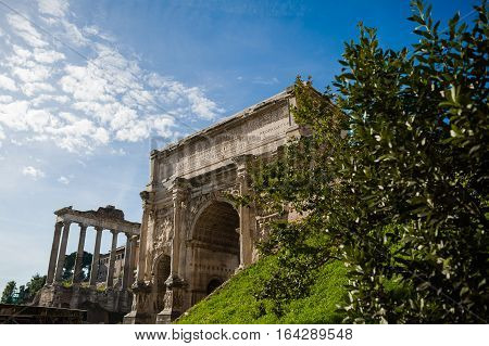 Rome architecture. Rome is a city and special comune (named Roma Capitale) in Italy
