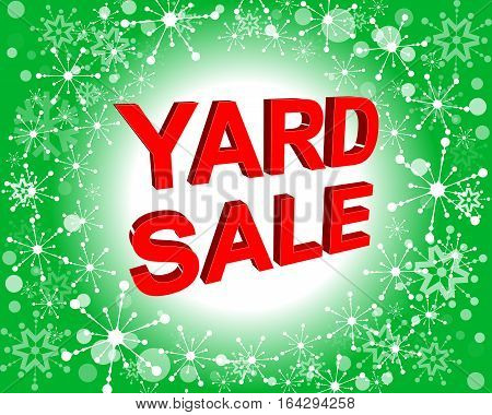 Red And Green Sale Poster With Yard Sale Text. Advertising Banner
