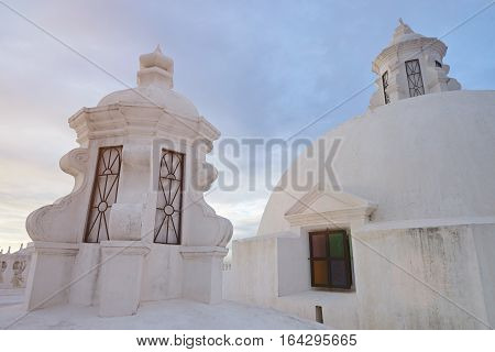 Famous tourist place in Leon Nicaragua. White rooftop in cathedral