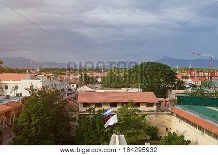 Panorama of Leon city Nicaragua. Cityscape of leon in day