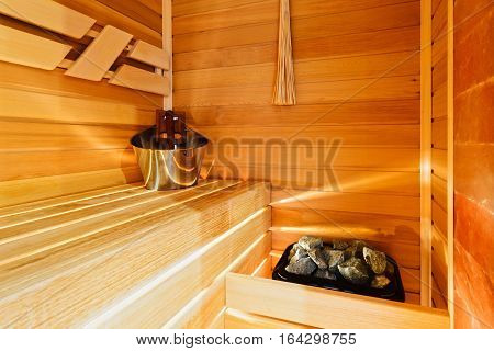 Excellent small sauna in the modern apartment