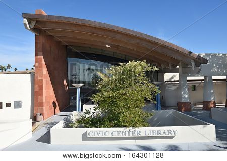 SCOTTSDALE ARIZONA - DECEMBER 9 2016: Scottsdale Civic Center Library. The library is located in the Old Town section of town.