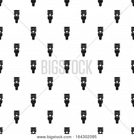 Energy saving lamp pattern. Simple illustration of energy saving lamp vector pattern for web