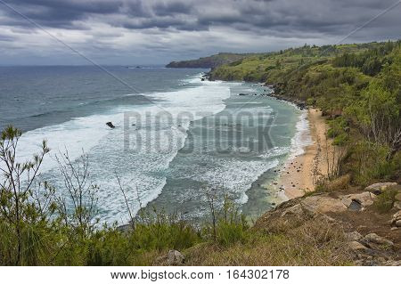 Waves and surf on the North Maui Coast Kapalua West Maui Hawaii USA