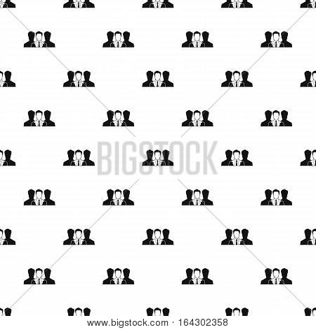 Unidentified male avatars pattern. Simple illustration of unidentified male avatars vector pattern for web