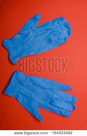 Blue Mediacl Hand Glove