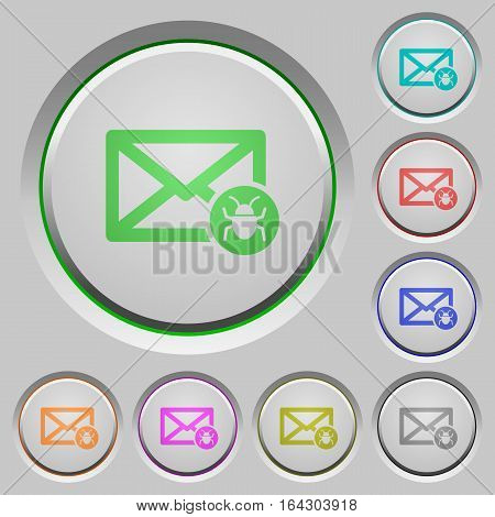 Spam mail color icons on sunk push buttons