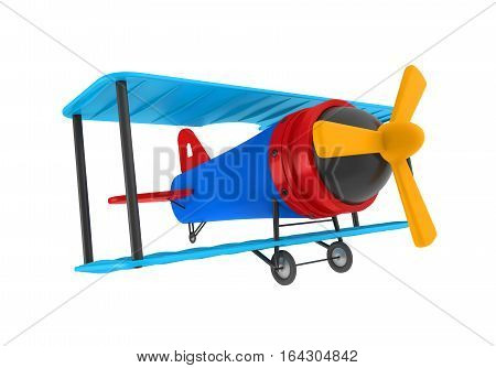 Airplane Toy isolated on white background. 3D render