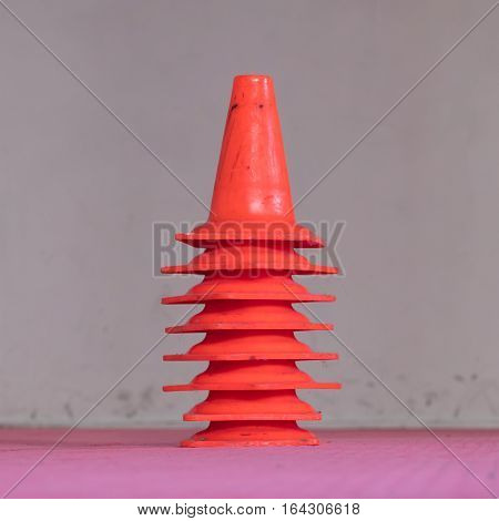 Red Cone In A Gym