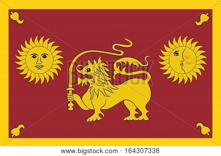 Flag of Sabaragamuwa Province is one of the nine provinces of Sri Lanka