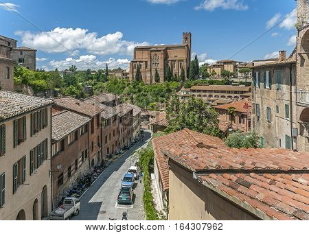 Italy, Siena. Basilica of St. Dominic (San Domenico) - one of the most important churches in Siena.