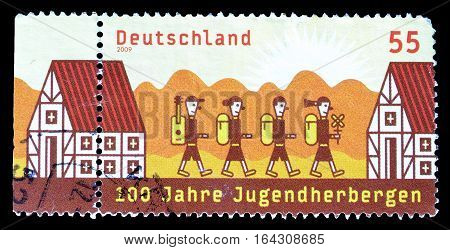 GERMANY - CIRCA 2009 : Cancelled postage stamp printed by Germany, that shows Children going to school.