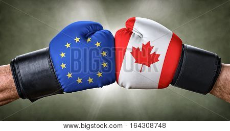 A Boxing Match Between The European Union And Canada