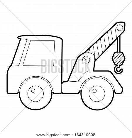 Car towing truck icon. Isometric 3d illustration of car towing truck vector icon for web