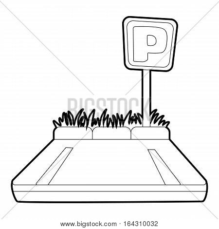 Parking zone icon. Isometric 3d illustration of parking zone vector icon for web