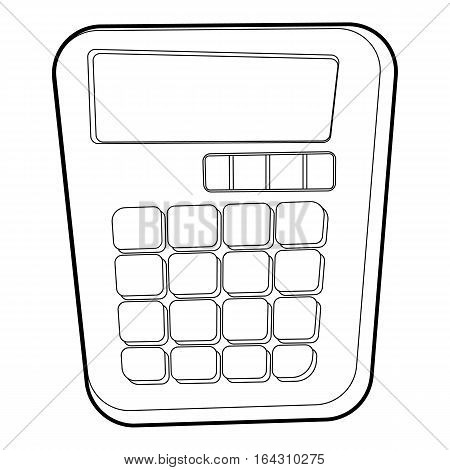 Calculator icon. Isometric 3d illustration of calculator vector icon for web