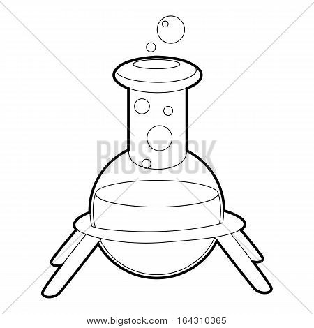 Test flask icon. Isometric 3d illustration of test flask vector icon for web