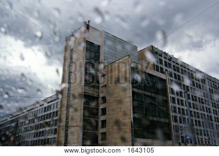 Rain In City.